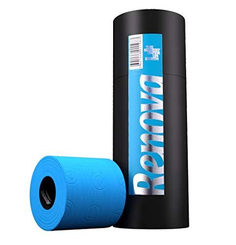 Renova Papel Higiénico Azul - 3 Rollos Premium en Caja Regalo