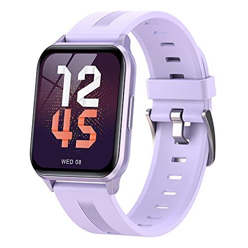 Smartwatch Reloj Inteligente Mujer Hombre Niños Modos Deportivos, Fitness Tracker Ultrafinos Con Monitor De Sueño Caloría Pulsómetros, Pulsera Actividad Impermeable IP68 Para Android Ios,Púrpura