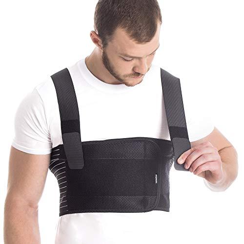 Men's Elastic Belt Support Brace Breathable Black X-Large