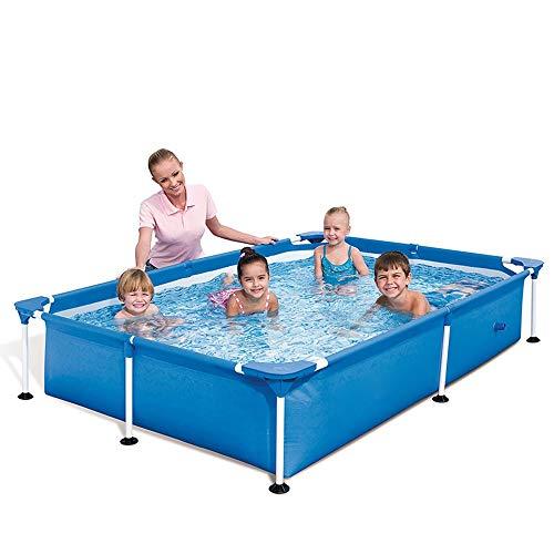 AYWJ Bracket Swimming Pool Home Adultos Piscina para niños Gruesa Exterior, Jardín, Casa de Familia, Azotea en el Techo, Corral (Color : Bracket, Size : 2.21m x 1.50m x 43cm)