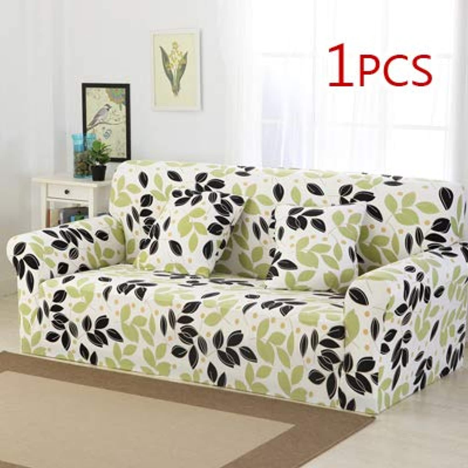 Refreshing Style Slipcover Sofa Cover sectional Elastic Couch Case for Different Sofa All-Inclusive Slip-Resistant Living Room   9, Single seat Sofa