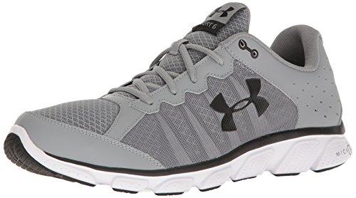 Under Armour Men's Micro G Assert 6 Running Shoe, Steel (036)/White, 8