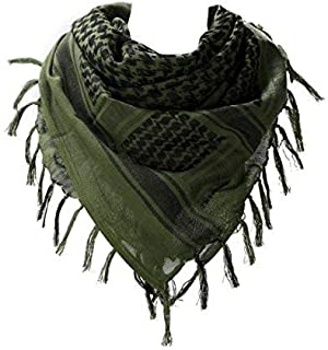 """VOCHIC 100% Cotton Military Shemagh Arab Tactical Desert Keffiyeh Thickened Scarf Wrap for Women and Men 43""""x43"""""""