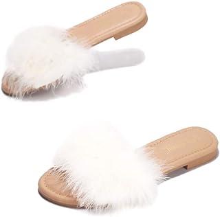 Cape Robbin صندل - 1 صندل شباشب للنساء - أحذية نسائية سهلة الارتداء - أبيض مقاس 9