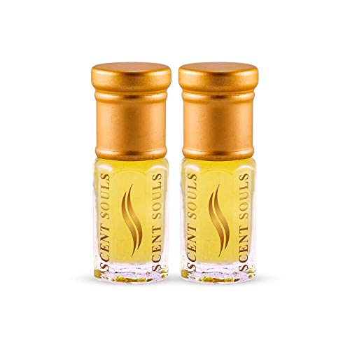 Scent Souls Number.5 & Isse Miami Femme Long Lasting Attar Fragrance Perfume Oil For Men Combo Pack- 3 ml