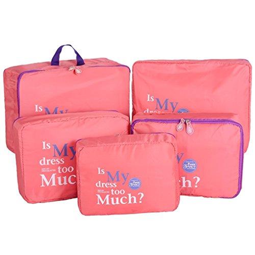 QHGstore 5pcs vestiti viaggio Biancheria intima del sacchetto dell'organizzatore di immagazzinaggio