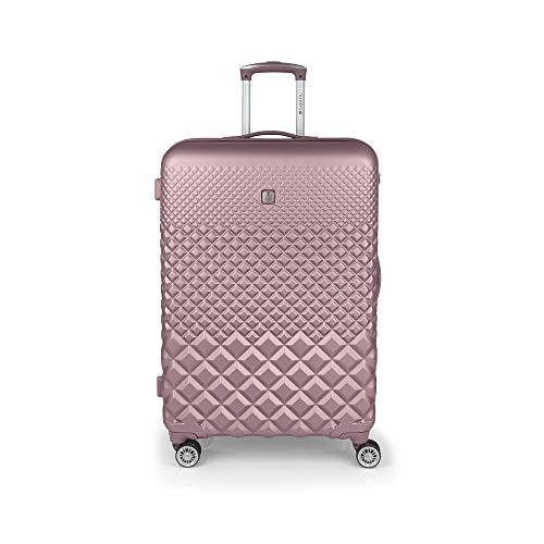 Gabol - Oporto | Maleta de Viaje Grande Dura de 52 x 77 x 30 cm con Capacidad para 94 L de Color Rosa