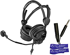 "Sennheiser HMD26-II-600-X3K1 Sportscaster Headset, Dual Ear, HyperCardioid Dynamic Mic, 1/4"" and XLR Connectors With 2 TAI..."