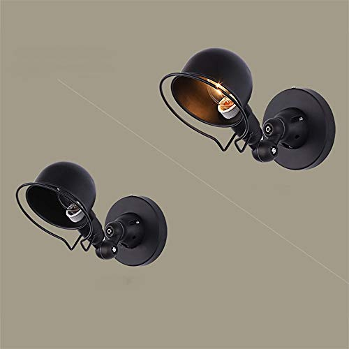 Vintage Edison Lámpara de pared Industrial Brazo mecánico Francia Jielde Lámpara de pared Reminisce Retractable Light, Negro