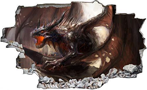 Drache Dragon Fantasy Feuer Wandtattoo Wandsticker Wandaufkleber C0889 Größe 40 cm x 60 cm