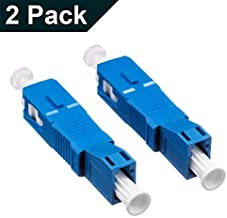 2-Pack Single Mode 9/125um SC/UPC Male to LC/UPC Female Hybrid Optical Fiber Adapter Connector for Optical Power Meter