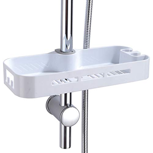 Porta Sapone per Doccia ABS Mensola per Asta Saliscendi Doccia Porta Shampoo per Bagno Senza Forature 19-25 mm PHASAT