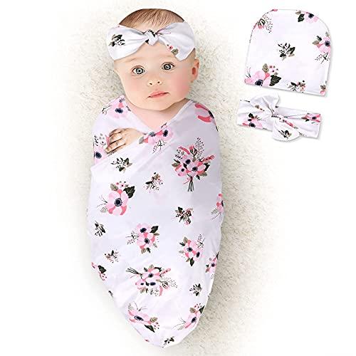 Juego de diadema para recién nacidos, manta para bebé, manta para recibir bebé, manta para bebé, fotografía recién nacida, regalo...