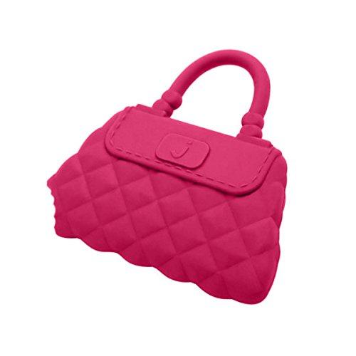 Jellystone Designs Handbag Silicone Teether - Fandango Pink