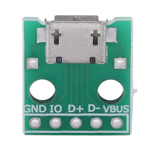 Micro USB Buchse, 10 Stück USB Einbaubuchse, USB auf DIP Platine, 5 Pin Pin Micro USB DIP Adapter Platine 2,54 mm Pitch Buchse Micro USB auf DIP, USB DIP Adapter