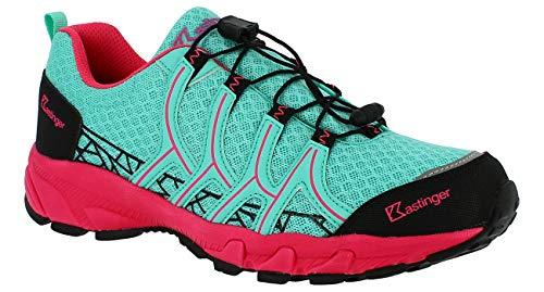 Kastinger Coolrun,Frauen,Trailrunner,Outdoor-Trekkingschuh, K-Tex Membran,wasserdicht,atmungsaktiv,Schnellschnürung,Multisportschuh,Mint/pink,39