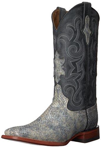 Ferrini Men's Print Snake S-Toe Western Boot, Grey, 8 D US