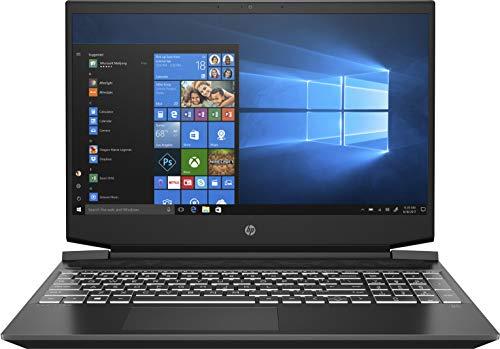 "HP Pavilion Gaming 15-ec2005ns - Ordenador portátil de 15.6"" Full HD (AMD Ryzen 5 5600H, 8GB RAM, 512GB SSD, NVIDIA GeForce GTX 1650, FreeDOS) Negro - Teclado QWERTY Español"