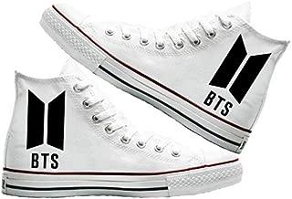 Art T-Shirt -BTS Baskılı Unisex Canvas Ayakkabı