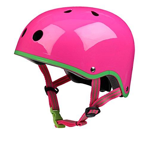 Micro Safety Helm Neon Roze Medium Voor Jongens En Meisjes Fietsen Scooter Bike