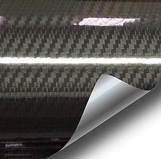 VVIVID Epoxy High Gloss Black Carbon Vinyl Automotive Wrap Film DIY Easy to Install No Mess (1/2ft x 5ft)