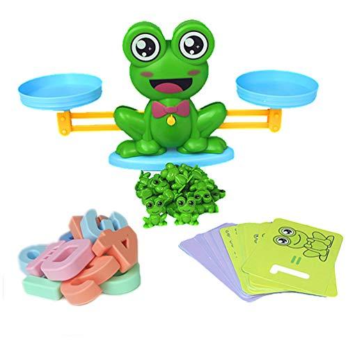 TOYANDONA Weegschaal Speelgoed Kikker Onderwijs Telweegschaal Wetenschap Klasse Experimenten Aantal Educatief Leren Speelgoed Voor Kinderen Peuter
