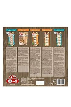 8in1 Snackbox S – Boite de Cinq Friandises et Os à mâcher Appétissantes pour Chiens de Petite Taille – Renforce l'hygiène dentaire – Sans: OGM, sucres, exhausteurs de goût, conservateurs artificiels