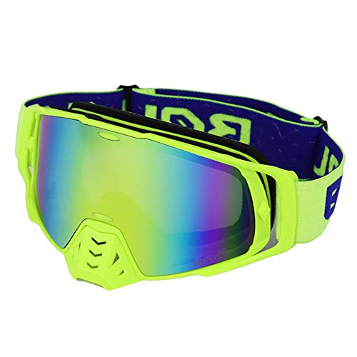 LQ Gafas De Sol De Esquí Caballero Gafas A Prueba De Viento De Motocross Gafas Anti-Giro