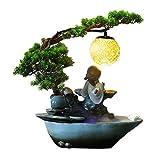 Zimmerbrunnen Keramik Tischplatte Brunnen Zen Grünpflanze Brunnen mit Zerstäuber Desktop...