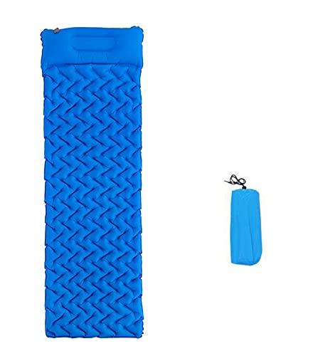 enioysun Esterillas Auto inflables Almohadilla de Dormir de Camping Inflable Plegable al Aire Libre portátil con Almohadilla y Tiendas a Prueba de Humedad (Color : Blue)