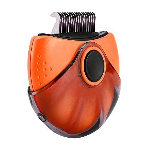 SEGUROS Pet Brush-Flea comb&Dematting Comb &Deshedding Comb 3 in 1 Brush for Cat and Dog-Portable Slicker Brush-Cat Brush for Shedding and Grooming-Orange