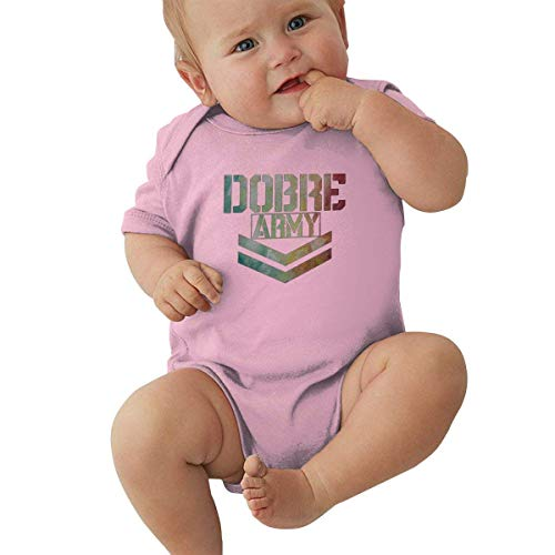 Body de algodón Unisex para bebé 1-24 Months Baby Short Sleeve Creeper Jumpsuit Lucas Dobre Elegant and Simple Design Pink