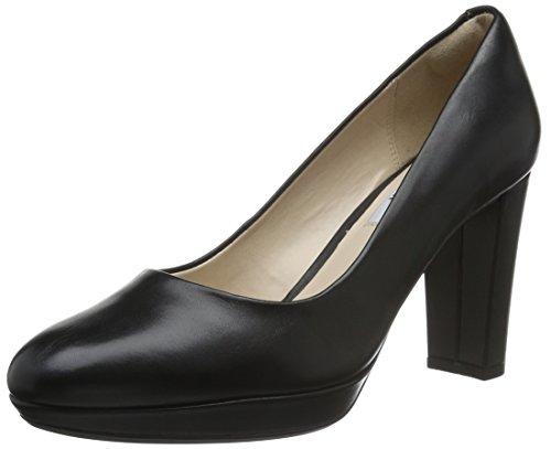 Clarks Damen Kendra Sienna Pumps, Schwarz (Black Leather), 37.5 EU