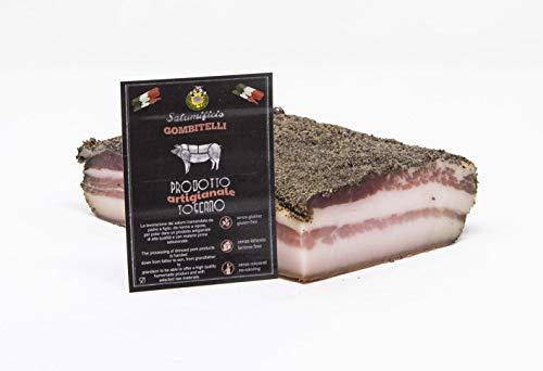 Pancetta Stesa (pancetta tesa, rigatino)   trancio sottovuoto da 0,5 kg   Salume artigianale Toscano   Salumificio Artigianale Gombitelli - Toscana