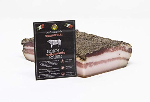 Pancetta Stesa (pancetta tesa, rigatino) | trancio sottovuoto da 0,5 kg | Salume artigianale Toscano | Salumificio Artigianale Gombitelli - Toscana