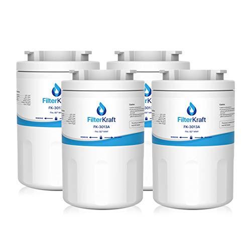 FilterKraft FK-3013A Compatible Fridge Freezer Internal Water Filter Cartridge Replacement for General Electric GE SmartWater MWF, MWFA, MWFP, GWF, AP3859302, AP3967843; Hotpoint HWF, HWFA, MWF (4)