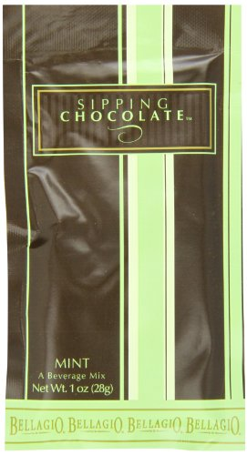 Bellagio Sipping Chocolate Mint, 25-Count Packets (Pack of 4)