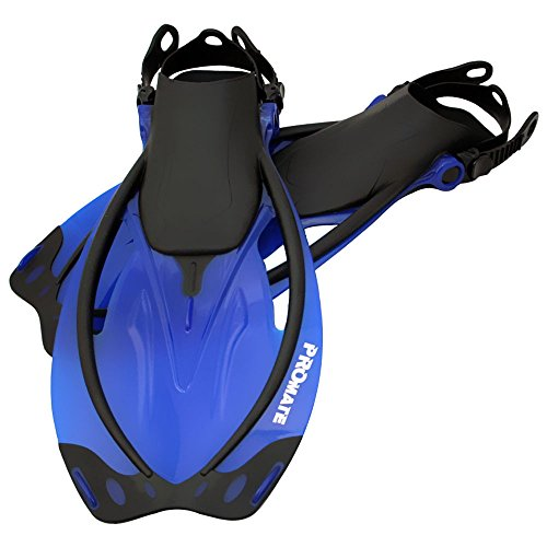 Promate Wave Snorkeling Open Heel Fins, Blue, ML/XL