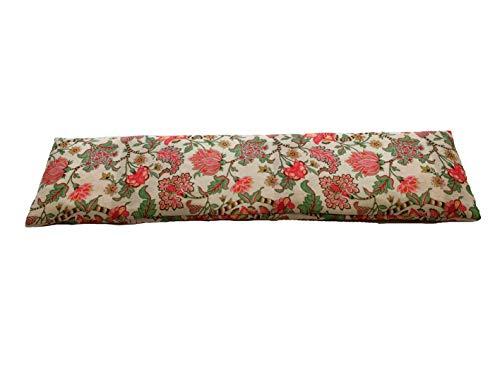 cuscino noccioli ciliegia riscaldabile COVERBAGBCN Cuscino Termico Cervicale con Doppia Fodera con Noccioli di Ciliegia –Fiori