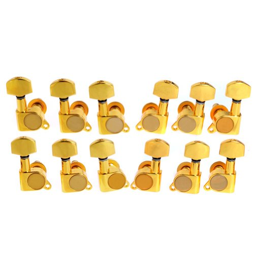 12pcs K-803 Guitar String Tuning Pegs Tuners Machine Heads Gold 6L6R