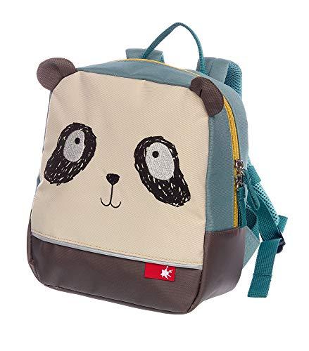 sigikid, Mädchen und Jungen, Mini Rucksack, Motiv Panda, Blau/Beige, 24970