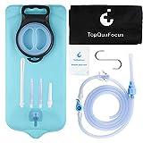 TopQuaFocus Kit de bolsa de enema con nuevo DesignTopQuaFocus Enema Bag Kit de agua y café Enemas Set de limpieza para el hogar