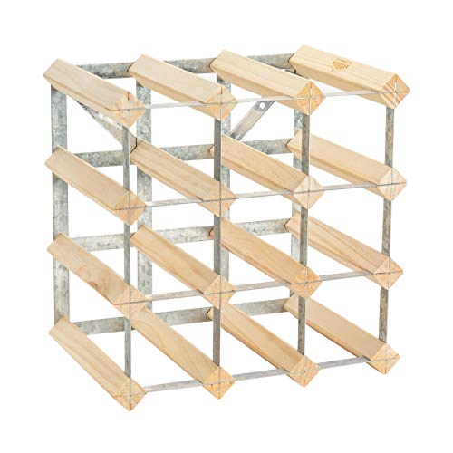 Miroir sur pied - grand format/cadre en métal - 1370 mm - entièrement assemblé - bois clair