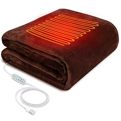 Mantón Calefactor Eléctrico, 3 Configuraciones De Calor Con Función De Temporización Manta...