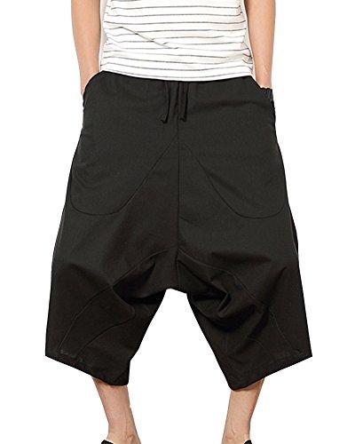 Pantalones Anchos Hombre Pantalones Cortos Bermudas Pantalones Hippies Transpirable Pantalones De Lino