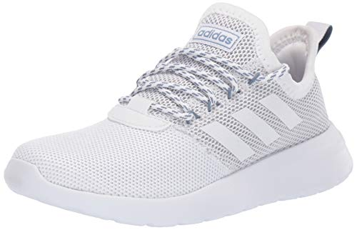 adidas Women's Lite Racer Reborn Running Shoe, White/White/raw Grey, 8.5 M US