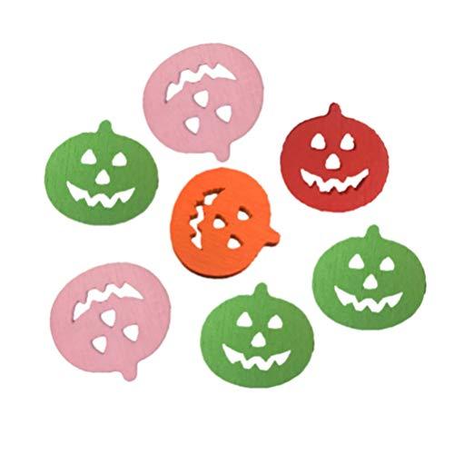 Healifty 100 Piezas Halloween Botones de Madera Forma de Calabaza Botones Coloridos Botones Lindos Botones de Costura Ropa Decorativa DIY artesanía Prensa Costura Scrapbooking