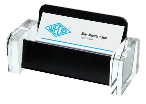 Wedo 0604401 Acryl Exklusiv - Tarjetero de plástico, color negro y transparente