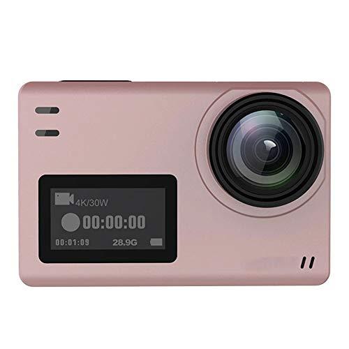 SHENYUAN-camera Rosa, pantalla dual, cámara profesional for deportes al aire libre a prueba de agua, buceo y ciclismo HD Sports DV, EIS antivibración, 170 grados de gran angular, tamaño 62.5x41x28.8 m