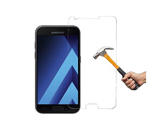 ino Panzerglas kompatibel mit Samsung Galaxy A5 2017 Schutzglas Panzerfolie Displayschutzglas Tempered Glass Echt Panzer Glas Harte Folie Schutz Glasfolie Schutzfolie 9H Härte Displayglas